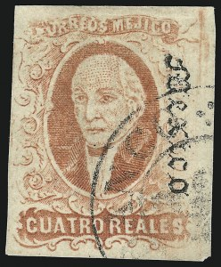 "Sale Number 949, Lot Number 1221, MexicoMEXICO, 1867, 4r Red, ""Mexico"" Ovpt. (37), MEXICO, 1867, 4r Red, ""Mexico"" Ovpt. (37)"