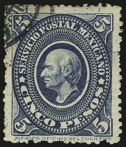 Sale Number 949, Lot Number 1225, MexicoMEXICO, 1892, 10p Blue Green (230), MEXICO, 1892, 10p Blue Green (230)