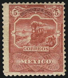 Sale Number 949, Lot Number 1226, MexicoMEXICO, 1898, 5p Carmine Rose (290), MEXICO, 1898, 5p Carmine Rose (290)