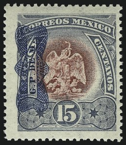 Sale Number 949, Lot Number 1233, MexicoMEXICO, 1916, 15c Lavender and Claret (516), MEXICO, 1916, 15c Lavender and Claret (516)