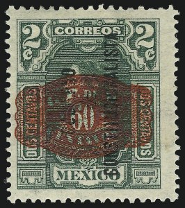 Sale Number 949, Lot Number 1234, MexicoMEXICO, 1916, 60c Red on 2c Green (585), MEXICO, 1916, 60c Red on 2c Green (585)