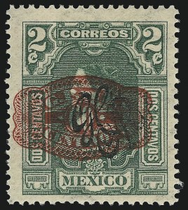 Sale Number 949, Lot Number 1235, MexicoMEXICO, 1916, 60c Red on 2c Green (590), MEXICO, 1916, 60c Red on 2c Green (590)