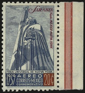 Sale Number 949, Lot Number 1242, MexicoMEXICO, 1939, 20c Sarabia (C93A), MEXICO, 1939, 20c Sarabia (C93A)