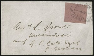 Sale Number 949, Lot Number 1244, Natal thru New BrunswickNATAL, 1857, 3p Rose (1; SG 4), NATAL, 1857, 3p Rose (1; SG 4)