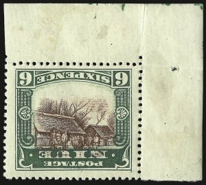 Sale Number 949, Lot Number 1272, New South Wales thru Northwest Pacific IslandsNIUE, 1920, 6p Deep Green & Red Brown, Inverted Center (39a), NIUE, 1920, 6p Deep Green & Red Brown, Inverted Center (39a)
