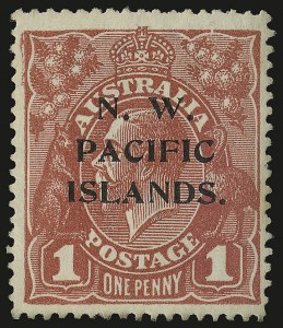 Sale Number 949, Lot Number 1274, New South Wales thru Northwest Pacific IslandsNORTHWEST PACIFIC ISLANDS, 1915-16, 1p Carmine, Substituted Cliche (12 var.; SG 67ca), NORTHWEST PACIFIC ISLANDS, 1915-16, 1p Carmine, Substituted Cliche (12 var.; SG 67ca)
