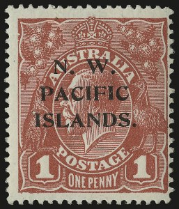 Sale Number 949, Lot Number 1275, New South Wales thru Northwest Pacific IslandsNORTHWEST PACIFIC ISLANDS, 1918-23, 1p Carmine Red, Substituted Cliche (41 var.; SG 103a), NORTHWEST PACIFIC ISLANDS, 1918-23, 1p Carmine Red, Substituted Cliche (41 var.; SG 103a)