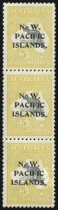 Sale Number 949, Lot Number 1277, New South Wales thru Northwest Pacific IslandsNORTHWEST PACIFIC ISLANDS, 1915-16, 5SH Yellow and Gray (22; SG 92), NORTHWEST PACIFIC ISLANDS, 1915-16, 5SH Yellow and Gray (22; SG 92)