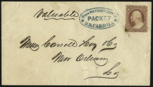 Sale Number 950, Lot Number 2076, Steamboat MailFrom Natchitoches, Packet, D. R. Carroll, From Natchitoches, Packet, D. R. Carroll