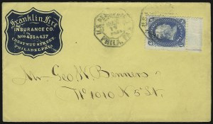 Sale Number 950, Lot Number 2180, 1861-66 Issues1c Blue (63), 1c Blue (63)