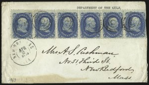 Sale Number 950, Lot Number 2182, 1861-66 Issues1c Blue (63), 1c Blue (63)