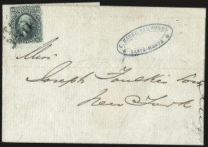Sale Number 950, Lot Number 2207, 1861-66 Issues10c Yellow Green (68), 10c Yellow Green (68)