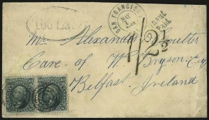 Sale Number 950, Lot Number 2208, 1861-66 Issues10c Yellow Green (68), 10c Yellow Green (68)