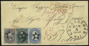 Sale Number 950, Lot Number 2221, 1861-66 Issues24c Pale Gray Violet, Thin Paper (70d), 24c Pale Gray Violet, Thin Paper (70d)