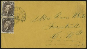 Sale Number 950, Lot Number 2245, 1861-66 Issues5c Brown (76), 5c Brown (76)