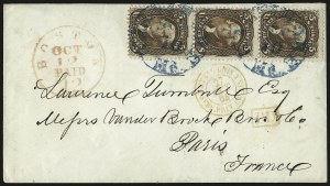 Sale Number 950, Lot Number 2246, 1861-66 Issues5c Brown (76), 5c Brown (76)