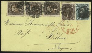 Sale Number 950, Lot Number 2248, 1861-66 Issues5c Brown (76), 5c Brown (76)