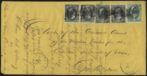 Sale Number 950, Lot Number 2358, 1870-88  Bank Note Issues30c Black (154), 30c Black (154)