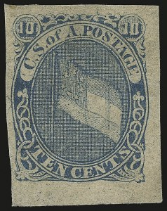 Sale Number 950, Lot Number 2917, General Issues Off Cover10c Blue, Hoyer & Ludwig Lithographed Essay (Dietz E-10a), 10c Blue, Hoyer & Ludwig Lithographed Essay (Dietz E-10a)
