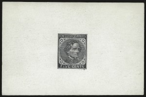Sale Number 950, Lot Number 2921, General Issues Off Cover5c Black, De La Rue, Trial Color Die Proof on Glazed Card (6TC1), 5c Black, De La Rue, Trial Color Die Proof on Glazed Card (6TC1)