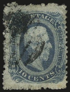 Sale Number 950, Lot Number 2925, General Issues Off Cover10c Blue, Die B, Perforated (12f), 10c Blue, Die B, Perforated (12f)