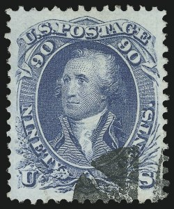 Sale Number 951, Lot Number 27, 1861-66 Issue90c Blue (72), 90c Blue (72)