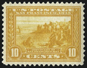 Sale Number 953, Lot Number 1063, 1913-15 Panama-Pacific Issue (Scott 397-404)10c Orange Yellow, Panama-Pacific (400), 10c Orange Yellow, Panama-Pacific (400)
