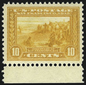 Sale Number 953, Lot Number 1064, 1913-15 Panama-Pacific Issue (Scott 397-404)10c Orange Yellow, Panama-Pacific (400), 10c Orange Yellow, Panama-Pacific (400)
