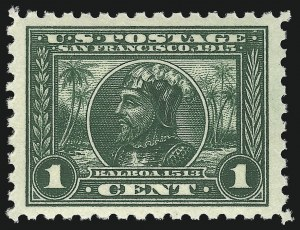 Sale Number 953, Lot Number 1073, 1913-15 Panama-Pacific Issue (Scott 397-404)1c Panama-Pacific, Perf 10 (401), 1c Panama-Pacific, Perf 10 (401)