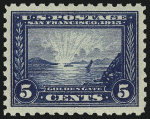 Sale Number 953, Lot Number 1076, 1913-15 Panama-Pacific Issue (Scott 397-404)5c Panama-Pacific, Perf 10 (403), 5c Panama-Pacific, Perf 10 (403)