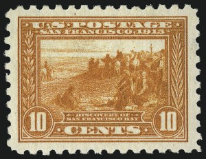 Sale Number 953, Lot Number 1081, 1913-15 Panama-Pacific Issue (Scott 397-404)10c Panama-Pacific, Perf 10 (404), 10c Panama-Pacific, Perf 10 (404)