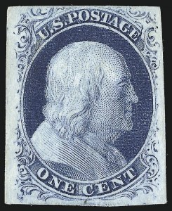 Sale Number 953, Lot Number 110, 1851-56 Issue (Scott 5-17)1c Blue, Ty. IIIa (8A), 1c Blue, Ty. IIIa (8A)