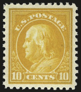 Sale Number 953, Lot Number 1234, 1917-19 Issues (Scott 481-524)10c Orange Yellow (510), 10c Orange Yellow (510)