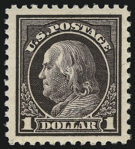Sale Number 953, Lot Number 1243, 1917-19 Issues (Scott 481-524)$1.00 Violet Brown (518), $1.00 Violet Brown (518)
