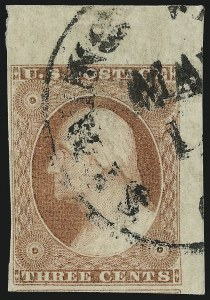 Sale Number 953, Lot Number 129, 1851-56 Issue (Scott 5-17)3c Dull Red, Ty. II (11A), 3c Dull Red, Ty. II (11A)