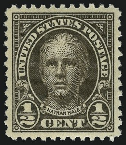 Sale Number 953, Lot Number 1296, 1922-29 Issues (Scott 551-621)-1/2c Olive Brown (551), -1/2c Olive Brown (551)