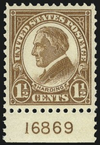 Sale Number 953, Lot Number 1297, 1922-29 Issues (Scott 551-621)1-1/2c Yellow Brown (553), 1-1/2c Yellow Brown (553)