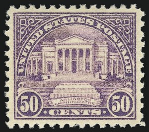 Sale Number 953, Lot Number 1312, 1922-29 Issues (Scott 551-621)50c Lilac (570), 50c Lilac (570)