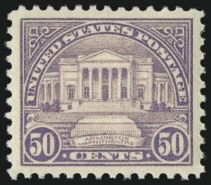 Sale Number 953, Lot Number 1314, 1922-29 Issues (Scott 551-621)50c Lilac (570), 50c Lilac (570)