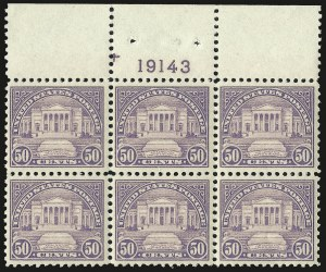Sale Number 953, Lot Number 1315, 1922-29 Issues (Scott 551-621)50c Lilac (570), 50c Lilac (570)