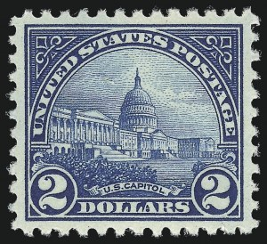 Sale Number 953, Lot Number 1317, 1922-29 Issues (Scott 551-621)$2.00 Deep Blue (572), $2.00 Deep Blue (572)