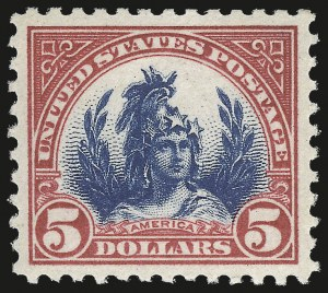 Sale Number 953, Lot Number 1319, 1922-29 Issues (Scott 551-621)$5.00 Carmine & Blue (573), $5.00 Carmine & Blue (573)