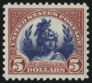 Sale Number 953, Lot Number 1321, 1922-29 Issues (Scott 551-621)$5.00 Carmine & Blue (573), $5.00 Carmine & Blue (573)