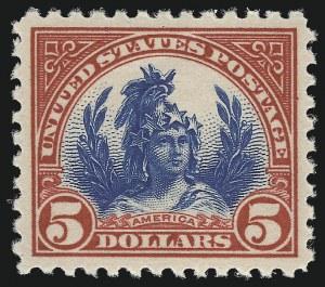 Sale Number 953, Lot Number 1322, 1922-29 Issues (Scott 551-621)$5.00 Carmine & Blue (573), $5.00 Carmine & Blue (573)