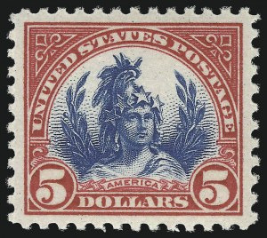 Sale Number 953, Lot Number 1323, 1922-29 Issues (Scott 551-621)$5.00 Carmine & Blue (573), $5.00 Carmine & Blue (573)