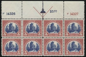 Sale Number 953, Lot Number 1325, 1922-29 Issues (Scott 551-621)$5.00 Carmine & Blue (573), $5.00 Carmine & Blue (573)