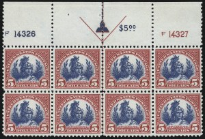 Sale Number 953, Lot Number 1326, 1922-29 Issues (Scott 551-621)$5.00 Carmine & Blue (573), $5.00 Carmine & Blue (573)