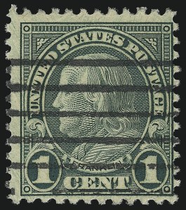 Sale Number 953, Lot Number 1332, 1922-29 Issues (Scott 551-621)1c Green, Rotary, Perf 11 (594), 1c Green, Rotary, Perf 11 (594)