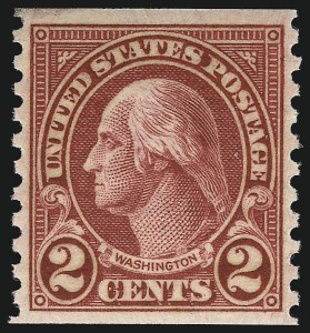 Sale Number 953, Lot Number 1335, 1922-29 Issues (Scott 551-621)2c Carmine, Ty. II, Coil (599A), 2c Carmine, Ty. II, Coil (599A)