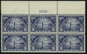 Sale Number 953, Lot Number 1337, 1922-29 Issues (Scott 551-621)5c Huguenot-Walloon (616), 5c Huguenot-Walloon (616)